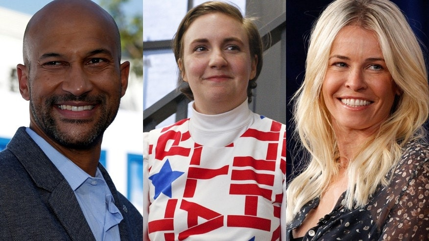 From l-r: Keegan-Michael Key, Lena Dunham and Chelsea Handler.
