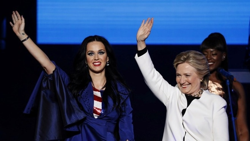 Hillary Clinton gives a 'Nasty' welcome to Katy Perry at campaign event