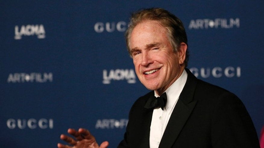 Warren Beatty joked that he would be happy to take Bob Dylan's Nobel Prize.
