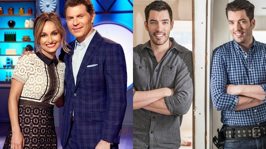 """From l-r: Celebrity chefs Giada De Laurentiis and Bobby Flay, """"Property Brothers"""" stars Drew and Jonathan Scott."""