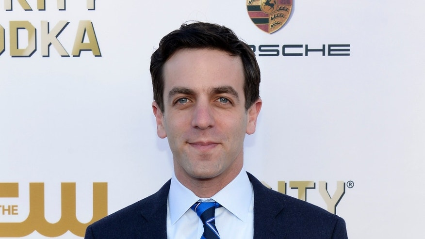 Actor B.J. Novak arrives at the 19th annual Critics' Choice Movie Awards in Santa Monica, California January 16, 2014.    REUTERS/Kevork Djansezian (UNITED STATES  - Tags: ENTERTAINMENT)  (CRITICSCHOICE-ARRIVALS) - RTX17HAC
