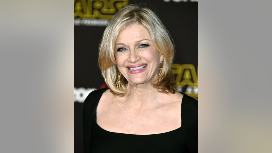"FILE - In this Dec. 14, 2015 file photo, Diane Sawyer arrives at the world premiere of ""Star Wars: The Force Awakens"" in Los Angeles. Sawyer, the former ""World News Tonight"" anchor, was announced last week as part of ABC News' elections coverage. Sawyer was backstage at ABC's Times Square studio Tuesday but never made it on the air. ABC's plan was for Sawyer to appear after the race had been called to offer historical perspective, but as it got later in the evening and a winner hadn't been declared, she left, spokeswoman Julie Townsend said. (Photo by Jordan Strauss/Invision/AP, File)"