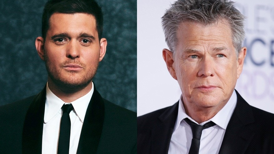 Michael Buble (left) and David Foster.