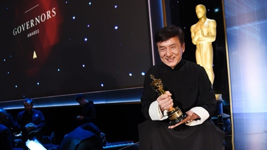 Jackie Chan was awarded an honorary Oscar at the Governors Awards.