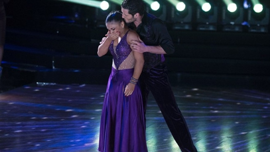 DANCING WITH THE STARS - Episode 2310 - The five remaining couples advance to the Semi-Finals in one of the shows tightest competitions ever, on Dancing with the Stars, live, MONDAY, NOVEMBER 14 (8:00-10:01 p.m. EST), on the ABC Television Network. (Eric McCandless/ABC via Getty Images)LAURIE HERNANDEZ, VALENTIN CHMERKOVSKIY