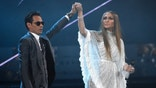 """Marc Anthony, left, and Jennifer Lopez perform """"Olvidame y Pega la Vuelta"""" at the 17th annual Latin Grammy Awards at the T-Mobile Arena on Thursday, Nov. 17, 2016, in Las Vegas. (Photo by Chris Pizzello/Invision/AP)"""