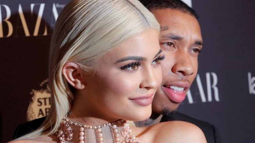 Kylie Jenner shared racy pictures to celebrate boyfriend Tyga's birthday.