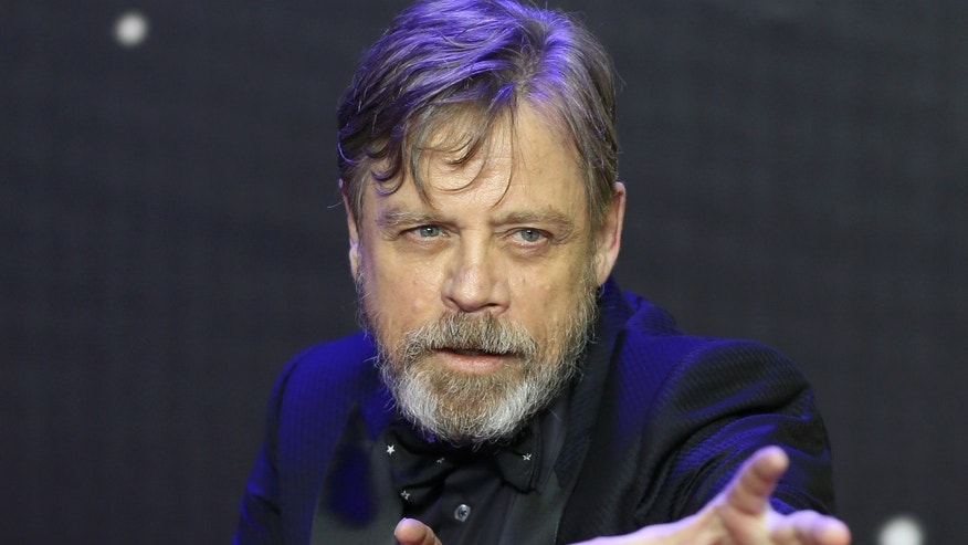 Mark Hamill gestures as he arrives at the European Premiere of Star Wars, The Force Awakens in Leicester Square, London, December 16, 2015.