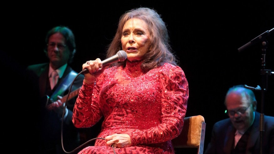 In this Aug. 28, 2016 file photo, Loretta Lynn performs in concert at the American Music Theater in Lancaster, Pa.