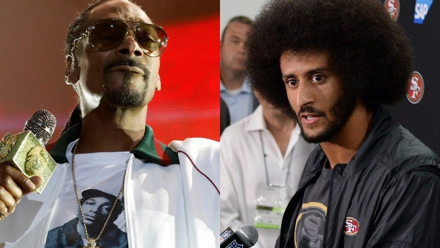 Snoop Dogg (left) and Colin Kaepernick ( right).