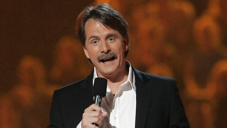 """Comedian Jeff Foxworthy performs on April 10, 2006, in Nashville, Tenn. Foxworthy has a new TV show called """"Foxworthy's Big Night Out,"""" and airs on Country Music Television. (AP Photo/John Russell)"""