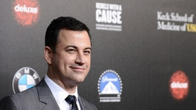 """FILE - In this March 20, 2014, file photo, television personality and event host Jimmy Kimmel attends the 2nd Annual """"Rebels With a Cause"""" Gala benefiting the USC Center for Applied Molecular Medicine at Paramount Pictures Studios in Los Angeles. The Oscars finally have a host: Kimmel will emcee the 89th Academy Awards. Kimmel will be hosting the show for the first time, the Academy of Motion Pictures announced Monday, Dec. 5, 2016.  (Photo by Dan Steinberg/Invision/AP, File)"""