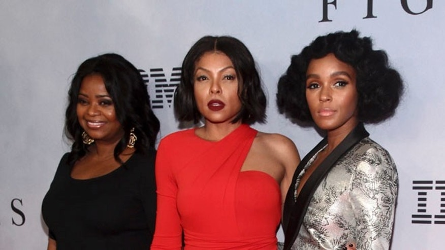 "John Glenn was fondly remembered by the ""Hidden Figures"" cast at a New York premiere. From left Octavia Specer, Taraji P. Henson and Janelle Monae"