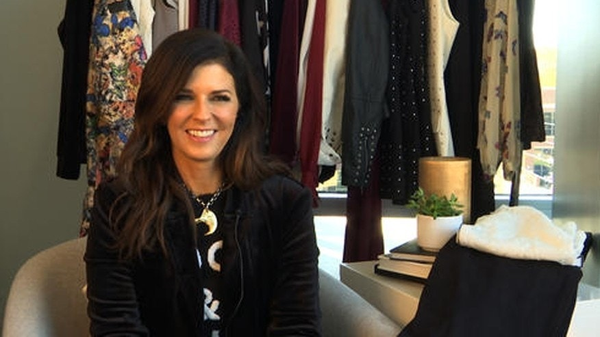 This Nov. 18, 2016 image taken from video shows Karen Fairchild of the country group Little Big Town during an interview in Nashville, Tenn. Fairchild and others are leading a new wave of musical style out of Nashville that's focused on dressing fabulously every day. The Fair Child collection, which launched this year at select Macy's stores and online, reflects Fairchild's love of high fashion, vintage clothes and glamour, but tailored to be approachable and affordable. (AP Photo/Kristin Hall)