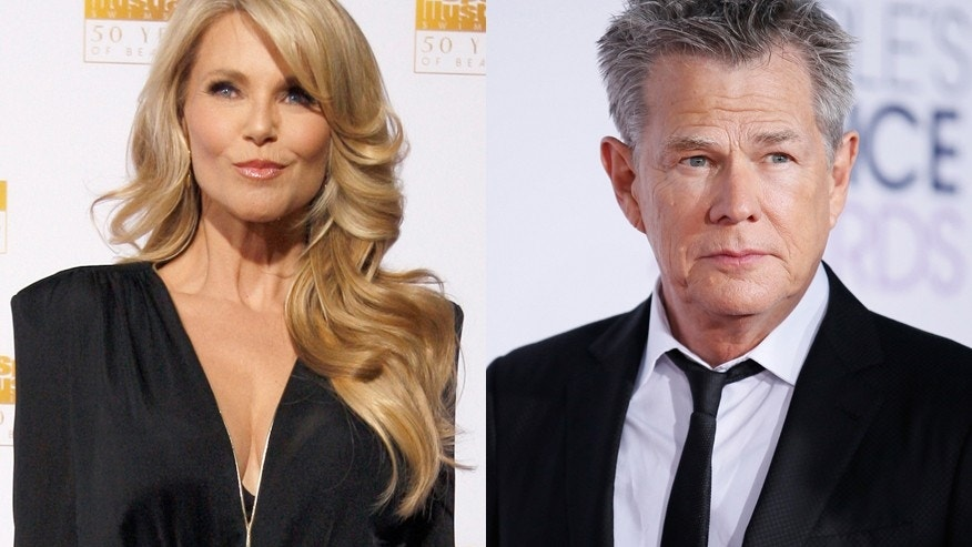 Christie Brinkley (left) and David Foster.