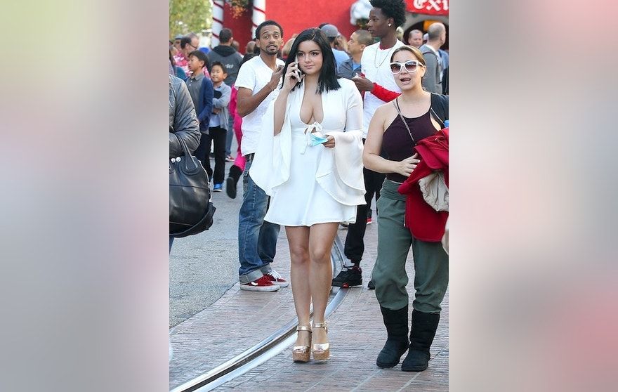 Ariel Winter is seen shopping at The Grove in West Hollywood, California.
