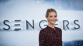 Actress Jennifer Lawrence poses for photographers during a photo call to promote the film ''Passengers' in London, Thursday, Dec. 1, 2016. (Photo by Vianney Le Caer/Invision/AP)