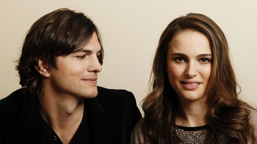 "In this Jan. 7, 2011, file photo, actor Ashton Kutcher, left, and actress Natalie Portman, from the film ""No Strings Attached"" pose for a portrait in Beverly Hills, Calif."