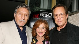 "FILE - In this Sept. 29, 2010 file photo released by Starpix, ""The Exorcist"" author William Peter Blatty, left, joins Linda Blair, who starred in the 1973 film and William Friedkin, the film's director, at a screening of the remastered film at the Museum of Modern Art in New York. Blatty died, Thursday, Jan. 12, 2017, at a hospital in Bethesda, Md, of multiple myeloma, a form of blood cancer, according to his wife Julie. He was 89.  (Dave Allocca/Starpix via AP, File)"