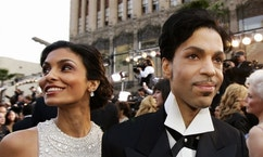 FILE - In this Feb. 27, 2005 file photo, singer Prince arrives with his wife Manuela Testolini for the 77th Academy Awards in Los Angeles. Records from the late megastar's divorce from Testolini were unsealed Friday, Jan. 13, 2017, by a judge's order. The Minneapolis Star Tribune went to court to unseal the files, which show Testolini said the couple threw lavish parties after major awards shows. The couple's divorce was granted in 2007.  Prince died of an accidental painkiller overdose on April 21, 2016. (AP Photo/Kevork Djansezian, File)