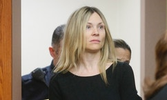 FILE - This Feb. 14, 2013 file photo shows Amy Locane Bovenizer entering the courtroom to be sentenced in Somerville, N.J. Locane-Bovenizer, convicted in a fatal drunken driving accident in 2010,  won't have to go back to prison, a judge ruled Friday, Jan. 13, 2017, at a resentencing spurred by an appeals court's concerns that her original sentence may have been too lenient. The judge said Locane-Bovenizer's conduct since her release shows she isn't a threat to society. (AP Photo/The Star-Ledger, Patti Sapone, File)