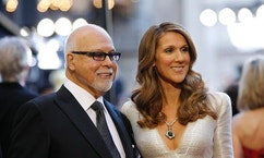 Singer Celine Dion and her husband Rene Angelil arrive at the 83rd Academy Awards at the 83rd Academy Awards in Hollywood, California, February 27, 2011.   REUTERS/Mario Anzuoni (UNITED STATES  - Tags: ENTERTAINMENT)  (OSCARS-ARRIVALS) - RTR2J81F