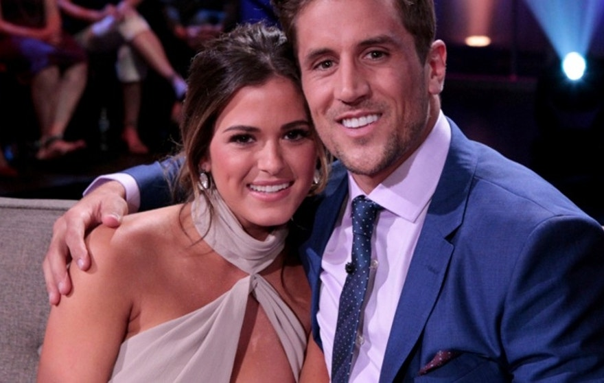 """The Bachelorette's"" JoJo Fletcher (left) and fiance Jordan Rodgers."
