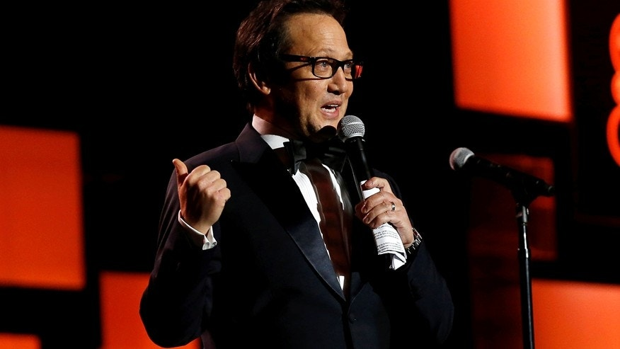 Actors Rob Schneider speaks on stage at The Golden Screen Awards in Los Angeles, California U.S., November 3, 2016.