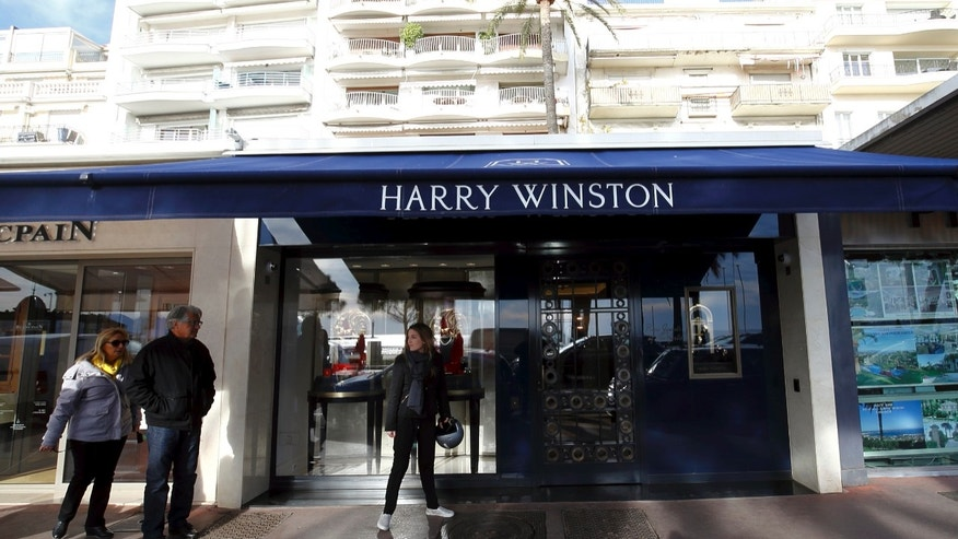 Outside view of the Harry Winston jewelry store in Cannes, southern France, Wednesday, Jan. 18, 2017.