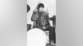 Young Woody drumming.Courtesy of the author