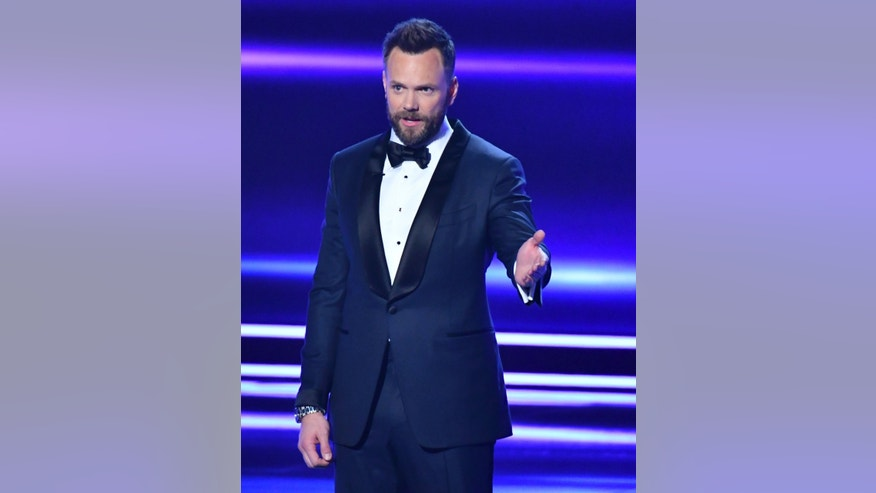 Host Joel McHale speaks at the People's Choice Awards at the Microsoft Theater on Wednesday, Jan. 18, 2017 in Los Angeles.