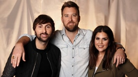 """InIn this Jan. 9, 2017, photo, the members of Lady Antebellum, from left, Dave Haywood, Charles Kelley and Hillary Scott pose in Nashville, Tenn. The Grammy-winning vocal group released a new single, """"You Look Good,"""" Thursday, Jan. 19, from their forthcoming album """"Heart Break,"""" which comes out on June 9. (AP Photo/Mark Humphrey)"""
