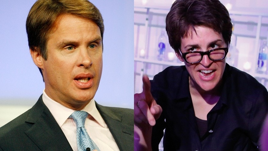 Terry Moran (left) and Rachel Maddow.