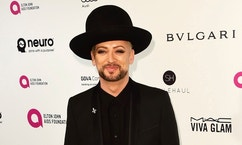Boy George arrives at the Elton John AIDS Foundation Academy Awards Viewing Party in West Hollywood, California February 28, 2016. REUTERS/Gus Ruelas - RTS8FVR