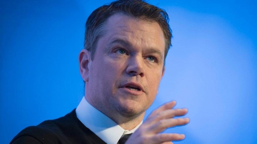 Jan. 17, 2017: Matt Damon, Co-Founder of Water.org, speaks during a penal session on the first day of the 47th annual meeting of the World Economic Forum, WEF, in Davos, Switzerland.