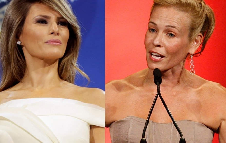 First Lady Melania Trump (left) and comedian Chelsea Handler.
