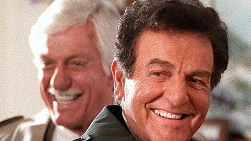 "Jan. 15, 1997: Actor Mike Connors, right, appears with actor Dick Van Dyke during an episode of the television show ""Diagnosis Murder,"""