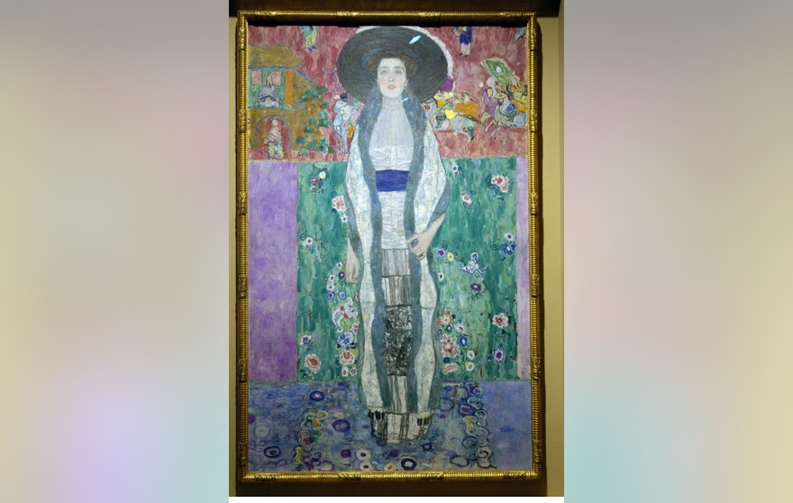 "1912 painting ""Adele Bloch-Bauer II"" by Austrian artist Gustav Klimt, part of a special exhibition of Klimt paintings that were looted by the Nazis during World War II, is seen at the Los Angeles County Museum of Art in Los Angeles, April 4, 2006."
