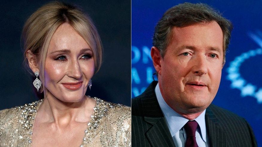 J.K. Rowling is in a Twitter war with Piers Morgan.