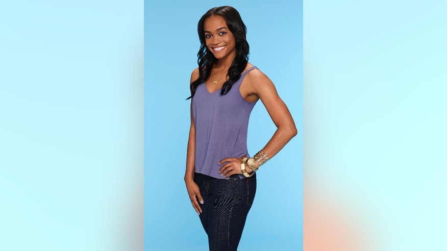 "This image provided by ABC shows Rachel Lindsay, who ABC named as its first black woman to be the ""Bachelorette"" for the 13th season of ""The Bachelor"" spinoff."