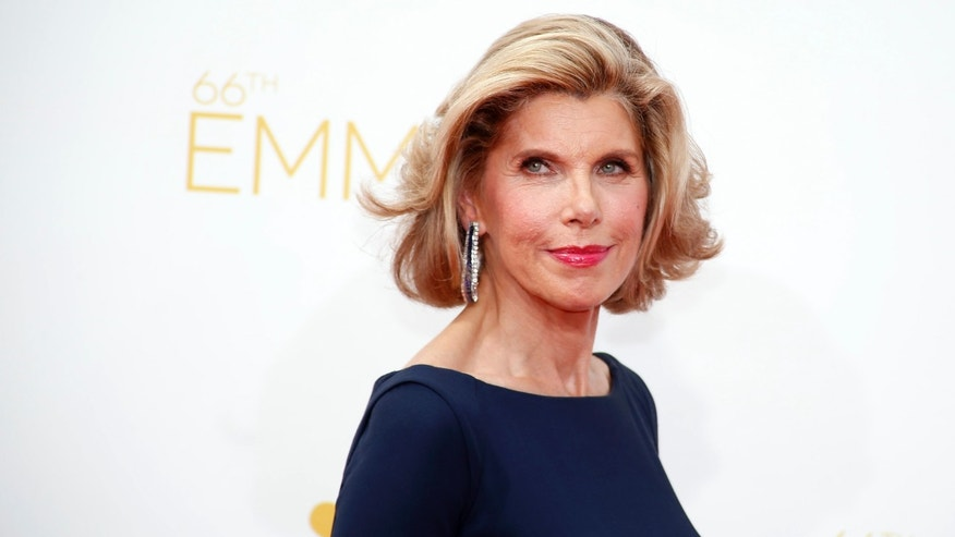 "Christine Baranski from the CBS series ""The Good Wife"" arrives at the 66th Primetime Emmy Awards in Los Angeles, California August 25, 2014.  REUTERS/Lucy Nicholson (UNITED STATES -Tags: ENTERTAINMENT)(EMMYS-ARRIVALS) - RTR43Q0K"