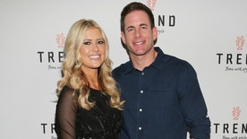 """MIAMI BEACH, FL - MARCH 12:  Christina El Moussa and Tarek El Moussa of HGTV's """"Flip or Flop"""", new North American brand ambassador, attend the TREND Group and Granite Transformations global rebranding and """"Immense"""" product collection launch event at Temple House on March 12, 2016 in Miami Beach, Florida.  (Photo by Alexander Tamargo/Getty Images)"""
