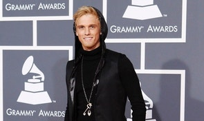 Singer Aaron Carter poses on the red carpet at the 52nd annual Grammy Awards in Los Angeles January 31, 2010.      REUTERS/Mario Anzuoni  (MUSIC-GRAMMYS/ARRIVALS) (UNITED STATES - Tags: ENTERTAINMENT) - RTR29PL7