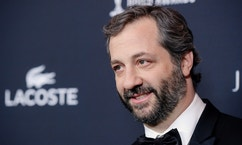 Distinguished Collaborator Service Honoree Judd Apatow arrives for the 16th Costume Designers Guild Awards in Beverly Hills, California February 22, 2014. REUTERS/Kevork Djansezian  (UNITED STATES - Tags: ENTERTAINMENT HEADSHOT) - RTX19CEW