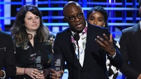 "Barry Jenkins accepts the Robert Altman award for ""Moonlight"" at the Film Independent Spirit Awards on Saturday, Feb. 25, 2017, in Santa Monica, Calif. (Photo by Chris Pizzello/Invision/AP)"