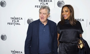 "Robert De Niro and his wife Grace Hightower arrive for the world premiere of the film ""Live From New York"" at the 2015 Tribeca Film Festival in New York April 15, 2015.  REUTERS/Andrew Kelly - RTR4XIVI"