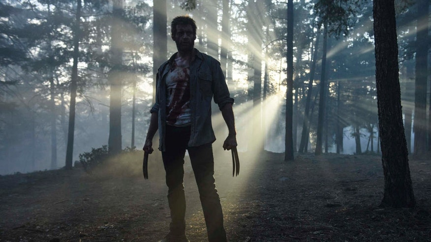 "This image released by Twentieth Century Fox shows Hugh Jackman from the film, ""Logan."""