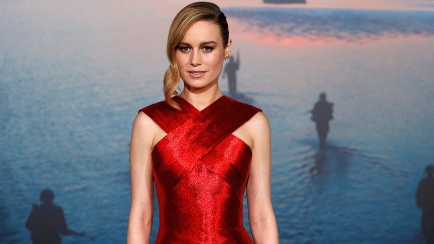 "Brie Larson poses at the premiere of ""Kong: Skull Island"" in Los Angeles, California, U.S. March 8, 2017."