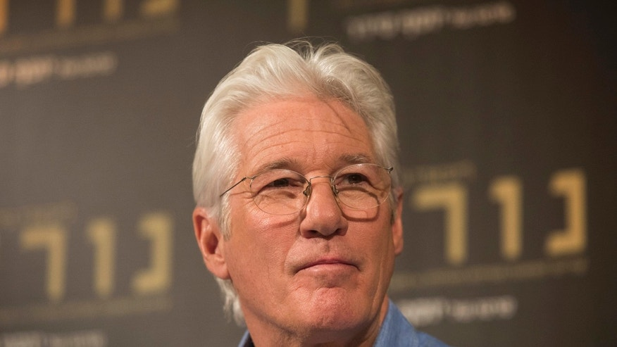 "American actor Richard Gere speaks during a press conference at the Israeli premiere of the ""Norman: The Moderate Rise and Tragic Fall of a New York Fixer"" movie, in Jerusalem, Thursday, March 9, 2017. (AP Photo/Dan Balilty)"