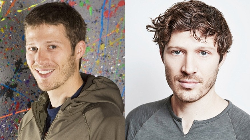 Zach Gilford in 2009, left, and now.